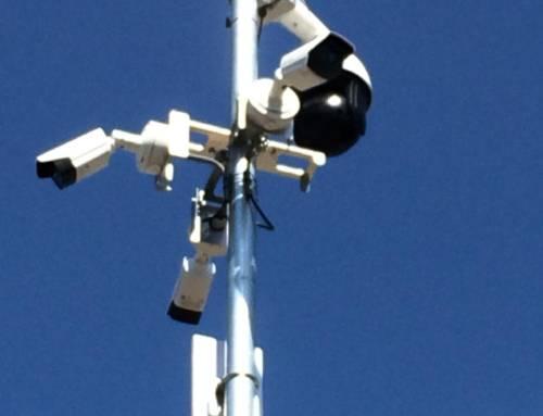 Camera's en WiFi binnenterrein bedrijf