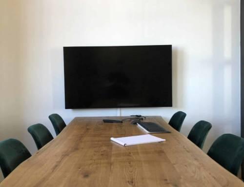 Multimedia presentatiescherm voor demo's